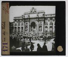 Italie Rome Fontana Trevi Photo n30 Plaque de projection Lanterne Magique
