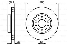 2x Bremsscheibe für Bremsanlage Vorderachse BOSCH 0 986 478 298