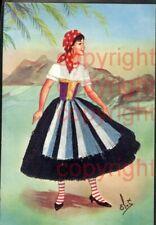 465374,Material Ak Stoff Frau Bestickt Emilia Costume Regionale Volkstypen Itali