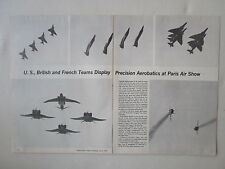 7/1973 ARTICLE 5 PAGES USAF THUNDERBIRDS PATROUILLE DE FRANCE RAF RED ARROWS
