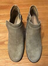 Lucky Brand Yabba Suede Wedge Booties Sesame Women's Size 10 M