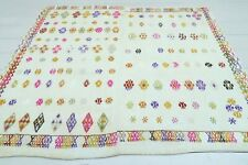 "Vintage Turkish Small Kilim Doormat Bathmat Decor Wool Rugs Carpet Tapis 39""x47"""