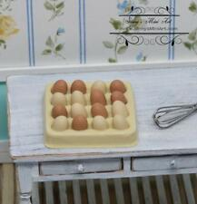 1:6 Dollhouse Miniature Eggs with Egg Carton/ Doll Food D86