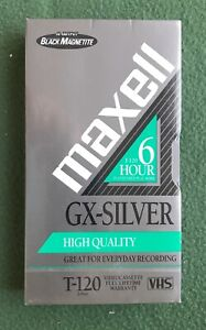 vintage MAXELL Blank VHS video Tape NEW SEALED T-120 6 hours old media