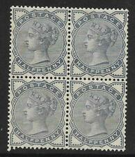 Sg 187 ½d Blue from Lilac & Green issue block of 4 UNMOUNTED MINT