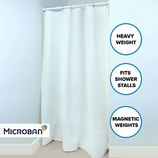 "White Mildew Resistant Heavyweight PEVA Shower Stall Curtain Liner (54"" x 78"")"