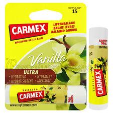 Carmex Vanilla Lip balm Flavored SPF15 Moisturising Dry lips Click stick 4.9ml