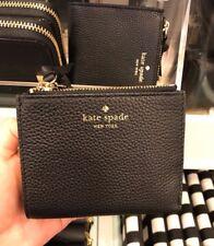 NWT Kate Spade Small Malea Mulberry Street Leather wallet WLRU3075 - Black