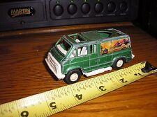 "Rare Vintage 1/43 ? 4 3/8"" long Tootsie Toy Calif.California Van Green No hitch"