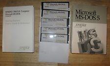 """Microsoft MS DOS 5 Boxed  5.25"""" Floppy Discs O/S  Spring"""