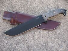 Busse Combat Fusion Battle Mistress BG Knife Custom Molded Leather Sheath BROWN