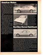 1973 AMC HORNET / GREMLIN / JAVELIN ~ ORIGINAL NEW CAR PREVIEW ARTICLE / AD