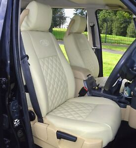 Land Rover Discovery 3 - 5 Seater Tailored Diamond Quilted Beige Seat Covers