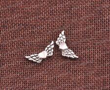 20Pcs Tibetan Silver Heart Angel Wings Loose Spacer Beads Jewelry Findings F57