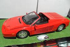 FERRARI TESTAROSSA Spider cabriolet rouge red monté 1/8 POCHER voiture miniature