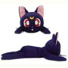 Sailor Moon Luna Guardian Cat 12-inch Lying Pose Plush Toy Official Licensed
