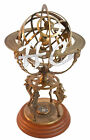 """18"""" Antique Brass Sphere Engraved Armillary Vintage Nautical Globe With Compass"""