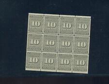 Scott RI16a Tax Exempt Potatoes Potato Revenue MINT NH Booklet Pane of 12 Stamps