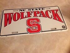 North Carolina State Wolfpack Metal License Tag New