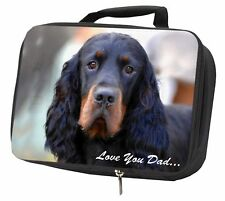 More details for gordon setter 'love you dad' black insulated school lunch box bag, dad-38lbb