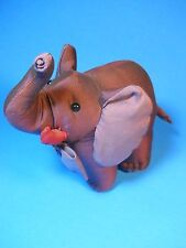 Jim Thompson purple Elephant silk stuffed with BOW Tie and Name Tag, Logo Plate
