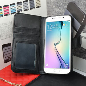 Premium Deluxe Quality Real Leather Flip Case Wallet For Samsung Galaxy Models