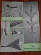 Hawker Siddeley Group Production Review brochure c1955 Vulcan, Meteor etc