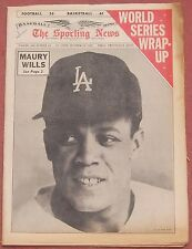 10-23-65 SPORTING NEWS WORLD SERIES WRAP UP ISSUE DODGERS MAURY WILLS ON COVER