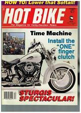 HOT BIKE DECEMBER 1989 SEE CONTENTS '39 INDIAN CHIEF CUSTOM STREET CHOPPERS TECH