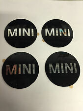 4x GENUINE MINI WHEEL CENTRE BADGE HUB CAP ADHESIVE STICKER EMBLEM 36136758687