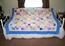 Quilt Top STAR LIGHT and CHAINS on Ecru Quilt Top handmade Prewashed (QT-7B)