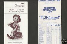 Goebel Hummel Price Guide 1978 Germany