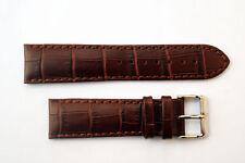 22mm crocodile-grain Genuine Leather Honey Watch Band