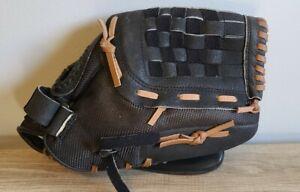"ADIDAS Baseball Glove 12"" TS1200 Eazy Close Black Brown Genuine Leather RHT"