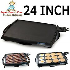 Non Stick Big Griddle Cool Touch Electric BBQ Grill Eggs Bacon Pancake Cooker
