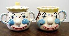Vintage Lipper & Mann Creations Clown Sugar and Creamer Set