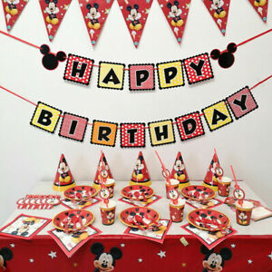 Mickey Mouse Birthday Party Pack Supplies Banner Invitation Cards Decoration