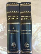 Española Bible LIBRO Hebrew-spanish Jewish Tanakh Old Testament 5 Books of Moses