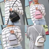 Womens Girl Leather Backpack School Rucksack College Shoulder Satchel Travel Bag
