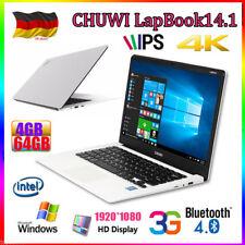 Chuwi LapBook 14.1'' 4GB+64GB 4K 3G BT Tablet PC Win10 Laptop Computer 1920*1080