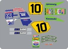 Vintage/evo Kx250/500 1989 USA flag Graphic Kit
