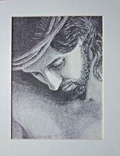 Richard Hook HEAD OF CHRIST 18x14 Paper Art Print Surfer Jesus Smiling Portrait