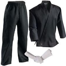 Century 7 oz. Middleweight Student Uniform with Elastic Pant - Black - kimono