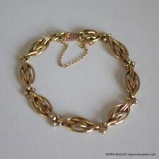 Bracelet Or 18k 750/000 19.28 Grs Maille Vintage - Bijoux occasion