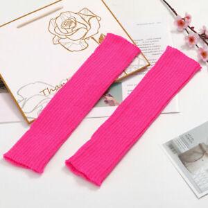 Women Knit Stocking High Knee Leg Warmers Crochet Leggings Socks Boot Foot Cover