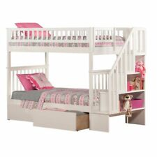 Leo & Lacey Twin Over Twin Staircase Storage Bunk Bed