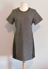 J Crew Mixed Houndstooth Dress - size 8 Petite - Charcoal Black