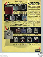1954 PAPER AD 8 PG COLOR Ronson Cigarette Lighter Pocket Table Penciliter