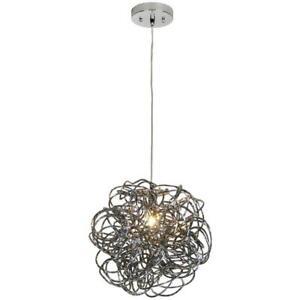 Trend Lighting TP6835 Mingle Pendant, Large, Faceted Obsidian Aluminum, Modern