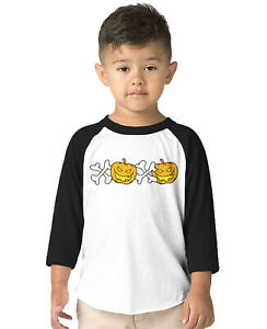 XOXO Halloween Pumpkings October Spooky Witch Skeleton  Toddler Raglan T-Shirt